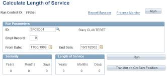 Calculating Seniority And Length Of Service