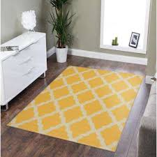 clifton collection moroccan trellis design yellow 5 ft x 7 ft area rug
