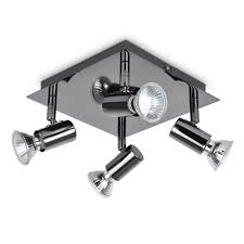 spot lighting for kitchens. Modern Square Black Chrome 4 Way Adjustable GU10 Ceiling Spotlight: Amazon.co.uk: Lighting Spot For Kitchens