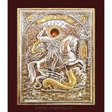 Icoana Argint Sfantul Gheorghe