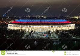 Luzhniki Stadium At Night Editorial Stock Photo Image Of