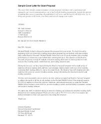 Project Proposal Cover Letters Sample Grant Proposal Grant Proposal Cover Letter Sales Template
