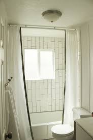 curtain fabulous ceiling shower curtain rail corner bath rod home depot l shaped beyond mount rods ikea wire how to install ceilingmounted quarter