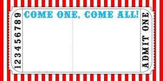 Image Gallery Of Admit One Invitation Template Carnival Ticket Party