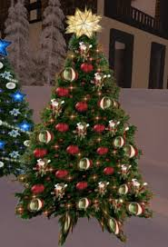 Christmas Tree #61 with Twinkling Red and Gold Lights Sale 50% OFF