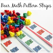 Patterns For Preschool Amazing Printable Bear Math Patterns For Preschoolers