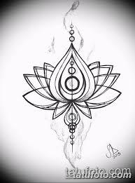черно белый эскиз тату рисункок лотос 11032019 054 Tattoo