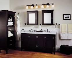 black vanity lighting. Bathroom Vanity Lighting Over Black Cabinet