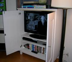 traditional white painted wooden tv armoire with doors dazzling television cabinets with doors ideas