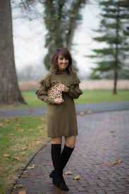 25 Days of Winter Fashion: Ruffle Dress + Over The Knee Boots ...