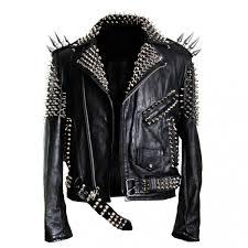 arrow men spikes studded leather jacket kjnhgtr41