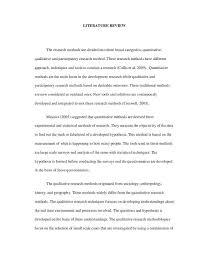 Literature Review Sample In Research Proposal Awesome Format For