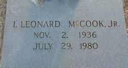 Ivy Leonard McCook Jr. (1936-1980) - Find A Grave Memorial