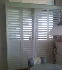 sliding patio door blinds ideas. Patio Doors Shutter With 4 Panels Design And White Color Ideas: Large Size Sliding Door Blinds Ideas