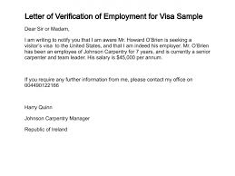 Ideas Collection Sample Employment Verification Letter For Us Visa