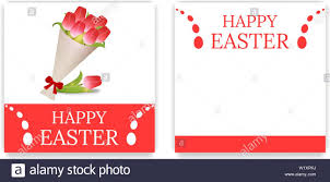 Easter Party Invitations And Greeting Cards With Bouquet Of