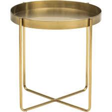 Gavin Side Table, Gold | Living room | Pinterest | Steel frame ...