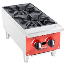 perfect for busy operations that are tight on space this avantco ra 2 12 gas 12 2 burner countertop range easily adds compact convenience to your kitchen