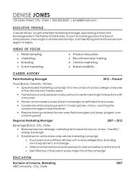 Resume Draft Inspiration Regional Marketing Resume Example Field Marketing Food Beverage