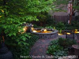 feature lighting ideas. Feature Lighting Ideas Pond Landscape Design Inspired By  Natural Stone Water Wall