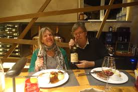 picture annette and schiller at brasserie les haras in strasbourg with a weingut martin wassmer spätburder see also cellar tour and tasting