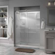delta shower doors inspirational delta mandara 60 in x 71 in semi frameless contemporary sliding