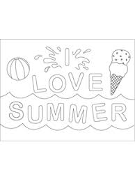 We have a great collection of easy summer coloring pages to help teach and learn. Summer Coloring Pages Mr Printables