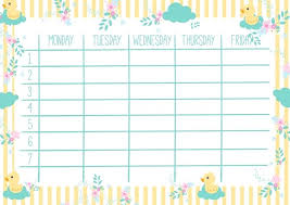 Cute Calendar Weekly Planner Template Organizer And Schedule Excel