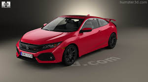 360 view of Honda Civic Si coupe 2016 3D model - Hum3D store