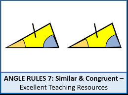 geometry angle rules 7 congruent and similar triangles shapes worksheet