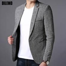 2019 New <b>Fashion</b> Brand <b>Blazer</b> Jacket <b>Men</b> Single Button <b>Slim</b> Fit ...