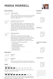 Lab Assistant Resume Best Lab Assistant Resume Samples VisualCV Resume Samples Database