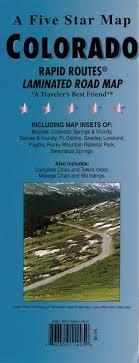 Colorado Mileage Chart Colorado Rapid Routes By Five Star Maps Inc