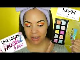 nyx love you so much mochi eyeshadow palette makeup tutorial