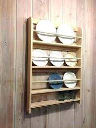 Plate Display Stands Uk Delectable Wood Wall Plate Racks Wall Mounted Plate Rack Decorative Plate Wall