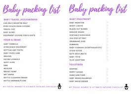 The Ultimate Baby Travel Packing Checklist My Travel Monkey