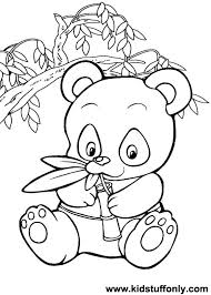 Small Picture Panda Bear Coloring Pages KId Stuff Only