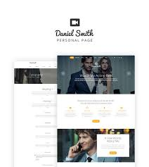 Personal Website Template Simple Personal Web Page Website Template
