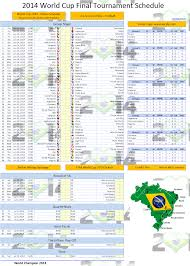 World Cup 2014 Schedule Excel Template Excel Vba Templates
