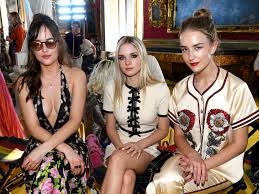 Dakota Johnson Brought Her Two Stunning Younger Sisters to the Gucci Show |  W Magazine | Women's Fashion & Celebrity News