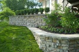 build a stone planter wall   Retaining Wall Photos - Decorative Stone Wall  Ideas and Inspiration