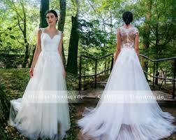 a line wedding dress etsy
