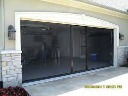 electric garage doorElectric Garage Door Screens  Screen Doors