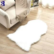 fluffy white rug 1 piece artificial fur sheepskin pink gy for living room bedroom rugs nursery fluffy white rug