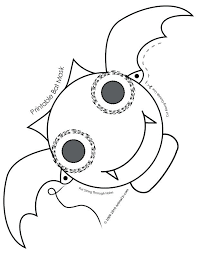 Printable Halloween Template Spider Cute Animal Paper Masks Bat Mask ...