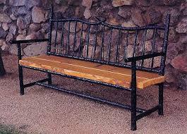 Roman Bronze Wrought Iron Garden Bench  Patio Furniture Garden Outdoor Wrought Iron Bench