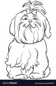 maltese dog cartoon for coloring book vector image