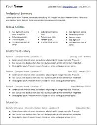 Skills Based Resume Templates Free To Download Hirepowers Net