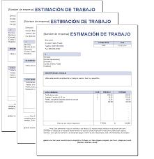 Presupuesto De Trabajo Excel Plantillas Gratis