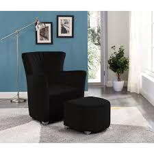 IH Casa Decor <b>Relax Armchair</b> With Foot Stool (<b>Black</b>)   The Home ...